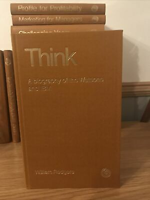 Think HB Orbit Business Society A Biography Of The Watsons And IBM By W Rodgers • 5.99£