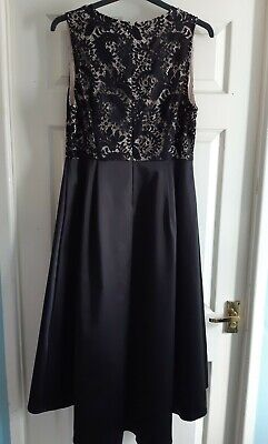 Brand New With Tags Black And Gold High Low Long Dress Prom/party Size 16 • 19.99£