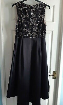 Brand New With Tags Black And Gold High Low Long Dress Prom/party Size 16 • 17.99£