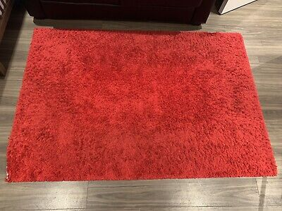 RED HAMPEN RUG 133 X 195cm Pile Warm For Living Room *** • 9.99£