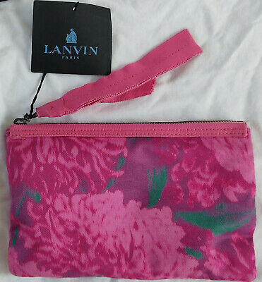 Authentic Luxury Rose Print Lanvin Paris Clutch Bag • 77.99£