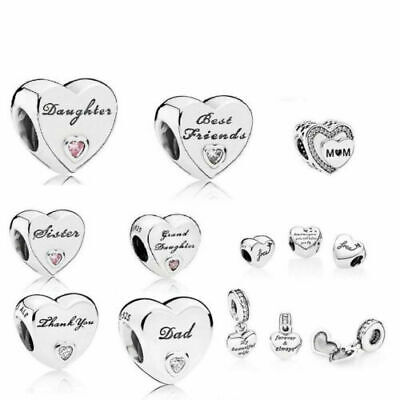 Pandora Moments Daughter Wife Dad Mum Granddaughter Auntie Nan Friend Charm Uk  • 11.99£