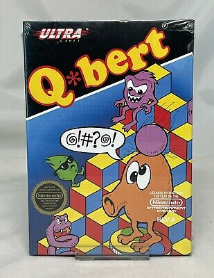 $ CDN193.48 • Buy Q*bert (Qbert) For Nintendo NES - Brand New - Factory Sealed H Seam - Black Seal