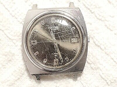 $ CDN17.02 • Buy Vintage Seiko Automatic Date Watch Seventeen Jewels Stainless Steel Black Dial