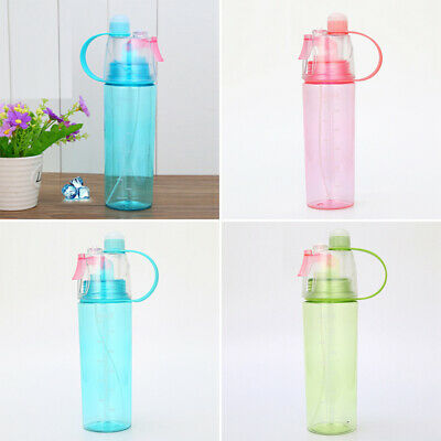 £2.59 • Buy 600ML Water Bottle With Straw Drink Spray Travel Cycling Outdoor Sports Mugs UK
