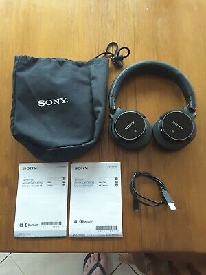AU99.99 • Buy SONY HEADPHONES MDR-ZX750BN In Superb Condition With Bag, Charging Cord And Man.