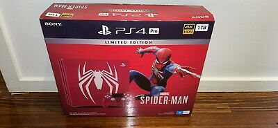 AU840 • Buy Sony PlayStation 4 PS4 Pro 1TB Spider-Man Limited Edition Rare Aus Edition