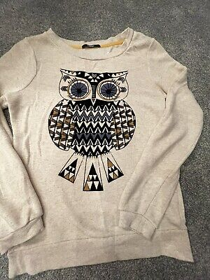 Girls Jumper With Owl Motif Size 10-11 • 0.99£