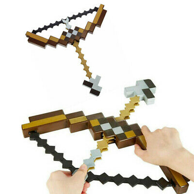 AU35.78 • Buy Minecraft Action Figures Character Toy Sword Pickaxe Hoe Bow And Arrow Axe Toys~