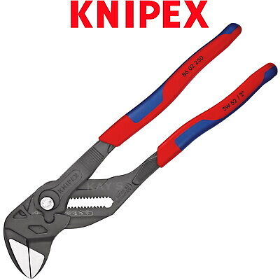 £53.95 • Buy Knipex Pliers Wrench 250mm 10in Push Button Adjustable Spanner PVC Grips 8602250
