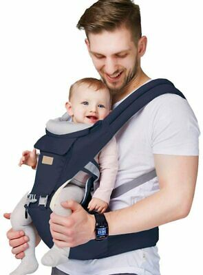 *Arkmiido Baby Carrier Newborn To Toddler With Hip Seat, Child Carrier Backpack* • 34.95£