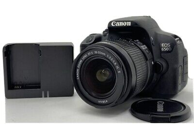 O318 Canon EOS 650d - 18.0 MP DSLR Camera - Black W/ EF-S 18-55mm Zoom Lens • 132£