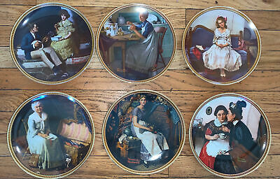 $ CDN23.73 • Buy NORMAN ROCKWELL Lot Of SIX Knowles Plates Rediscovered Women & Light Campaign