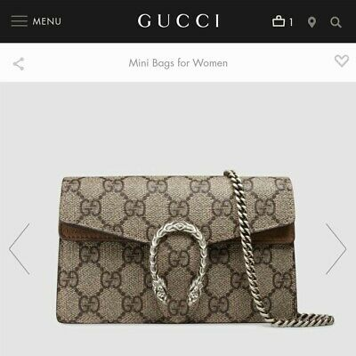 AU884 • Buy Dionysus GUCCI Supreme Mini Bag