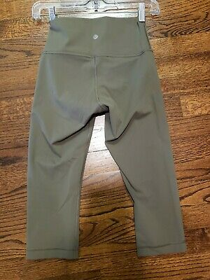 $ CDN25.36 • Buy Women's LULULEMON Capri Leggings Olive Green Size 4