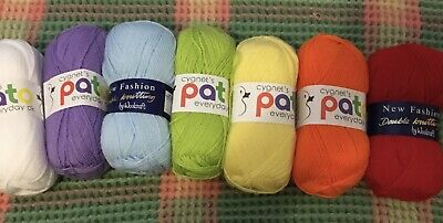 New 7 X 100 Gms Rainbow Wool Pack Yarn Cygnet Pato And New Fashion Double Knit • 9£