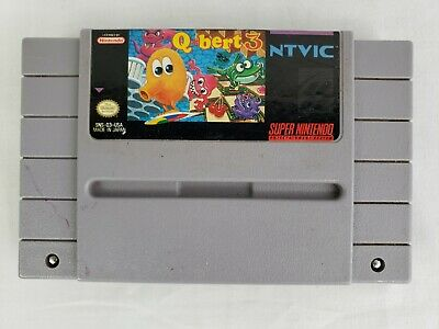 $ CDN24.04 • Buy SNES Qbert 3 Authentic Tested Working