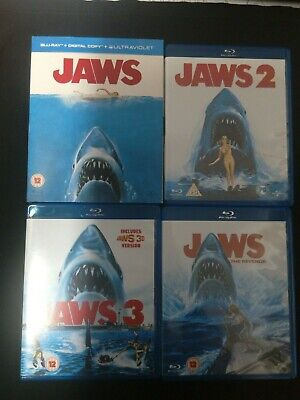 Jaws Blu Ray Collection 4 Movies Scary Thrillers • 10.50£