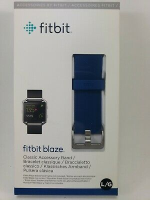 $ CDN18.68 • Buy FITBIT Blaze Classic Accessory Band Large Blue - New In Sealed Box