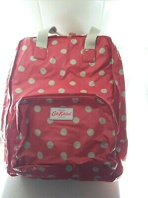 NEW Cath Kidston Backpack/Rucksack - Red With Polka Dots - BNWT • 35£