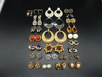 $ CDN82.04 • Buy Signed Vintage Clip On Earrings Costume Jewelry Lot #1