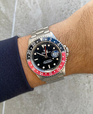 $ CDN10238.43 • Buy Rolex GMT-Master II  Coke  Red/Black Bezel 16710 W Serial