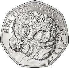 Mrs Tiggy-Winkle - Beatrix Potter 50p Fifty Pence Coin 2017 Circulated FREE POST • 2.49£