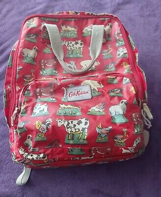 Cath Kidston Farm Print Oilcloth Backpack Used • 4.60£