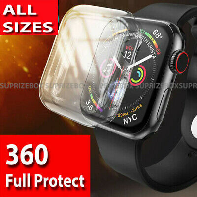 $ CDN6.80 • Buy For Apple Watch Series 6 5 4 3 2 1 SE Ultra Thin 360 Screen Protector Case Cover