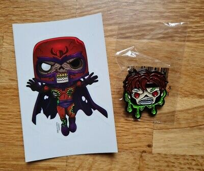 Zombie Gambit Enamel Pin Badge With Free Magneto Sticker Marvel Funko Pop Pin • 4.99£