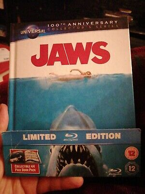 Jaws - Steven Spielberg / Mediabook Limited Edition Blu Ray. Rare. 44 Page Book. • 15£