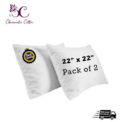 £0.99 • Buy PACK OF 2 Cushion Pads Inners Fillers Inserts 22 X22  Inch Hollow Fibre Corovin