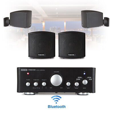 £155 • Buy Speaker And Amplifier Home HiFi AUX Stereo Bluetooth Music Sound System (Pair)