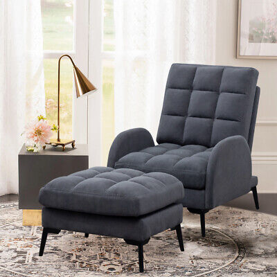 Recliner Chair Sofa Sleeper Napping Lounger Home Cinema Seat With Footrest Stool • 219.95£