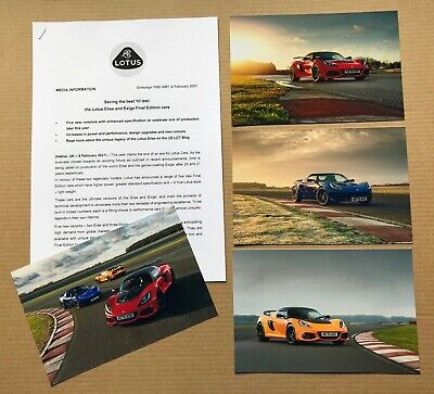 $ CDN10.55 • Buy 2021 Lotus Elise And Exige Final Edition Cars Press Photographs + Press Release