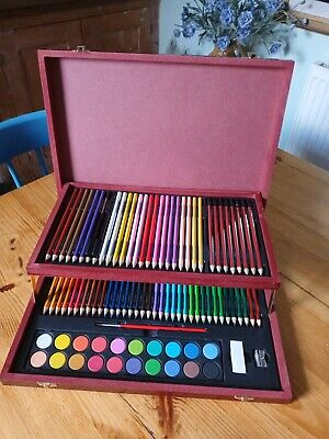 Kids Art Set By Crawford And Black In Wooden Box • 14.99£