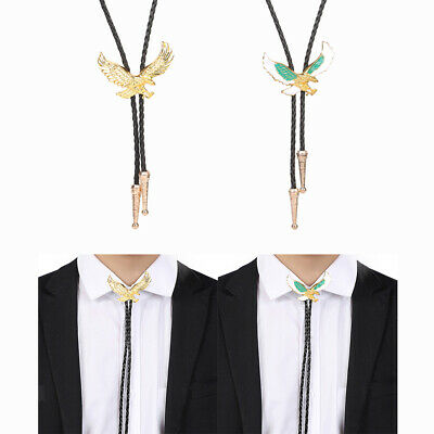 Antique Mens Metal Eagle Bolo Tie Western Pendant Shirt Leather Rope String • 3.76£