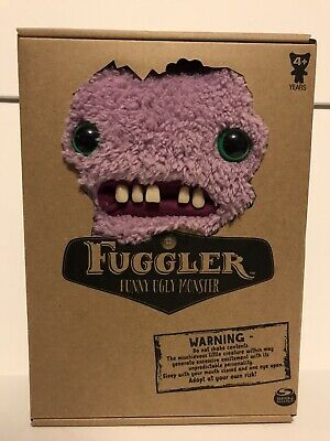 "$ CDN50.75 • Buy 2019 Fuggler Purple Gap Tooth McGoo Funny Ugly Monster 9"" Plush NIB"