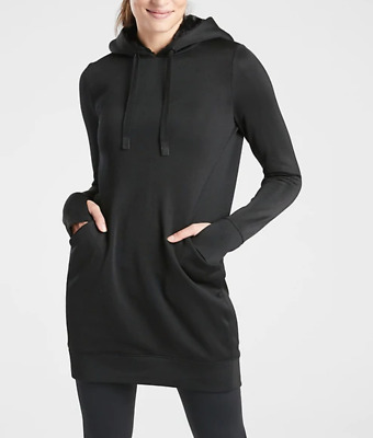 $ CDN78.77 • Buy ATHLETA BLACK LONG SLEEVE TRIUMPH LUXE SHINE HOODIE SWEATSHIRT DRESS Sz L