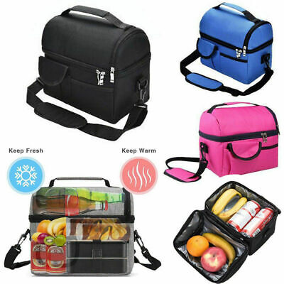 Unisex Food Drink Cooler Storage Lunch Boxes Bags Travel Picnic Insulated Packs • 12.69£