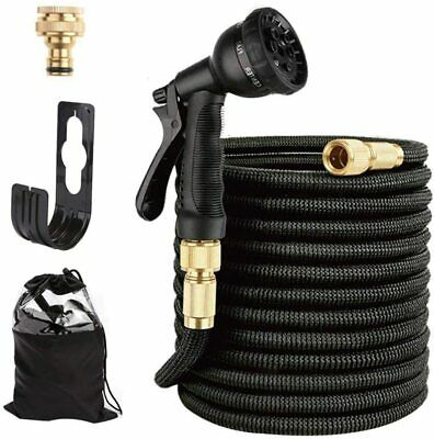 Heavy Duty Expandable Flexible Garden Magic Water Hose Pipe Spray Gun 50FT 100FT • 19.99£