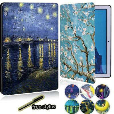 Paint Sign Leather Stand Cover Case For Huawei MediaPad M5 Lite 10.1 /M5 10.8  • 7.96£