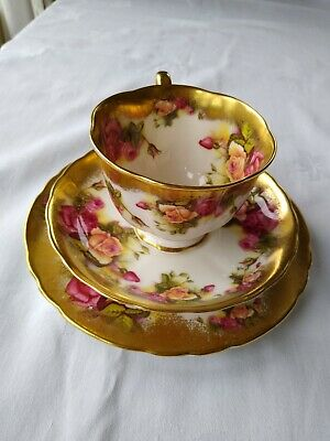 Golden Rose Royal Chelsea Bone China Tea Cup Saucer And Tea Plate. Mother's Day • 40£