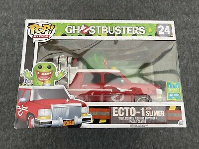 Funko Pop ECTO-1 With Slimer #24 Ghostbusters [2016 Summer Convention] Rides -A • 26.99£
