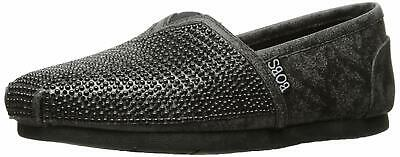 Skechers Womens Big Dreamer Canvas Closed Toe Slip On, Black/Black, Size 9.0 • 31.99£