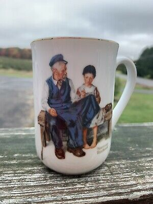 $ CDN4.38 • Buy Vintage 1982 Norman Rockwell Museum 'The Lighthouse Keeper's Daughter' Cup Mug