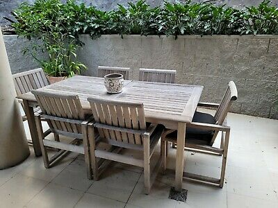 AU300 • Buy Kingsley-Bate Outdoor Dining Table Set (includes 6 X Amalfi Dining Chairs)