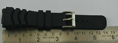 $ CDN13.69 • Buy 22MM Seiko Diver's Watch Black Silicone Rubber Watch Band Strap C-116-48