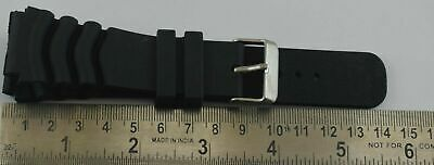 $ CDN13.69 • Buy 24MM Seiko Diver's Watch Black Silicone Rubber Watch Band Strap C-118-26