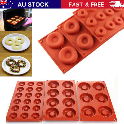 AU14.49 • Buy Silicone Donut Muffin Chocolate Cake Cookie Cupcake Baking Mold Mould Tray New
